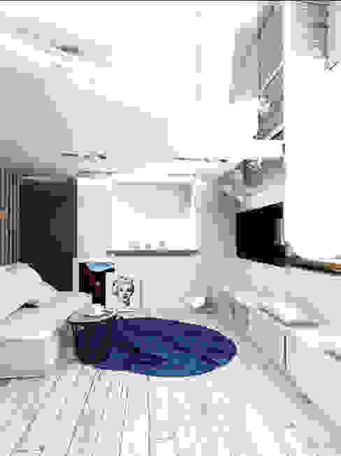 LOFT APARTMENT МОСКВА Гостиная в стиле лофт от IK-architects Лофт