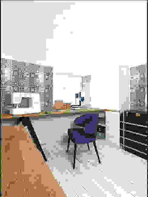 LOFT APARTMENT МОСКВА Рабочий кабинет в стиле лофт от IK-architects Лофт