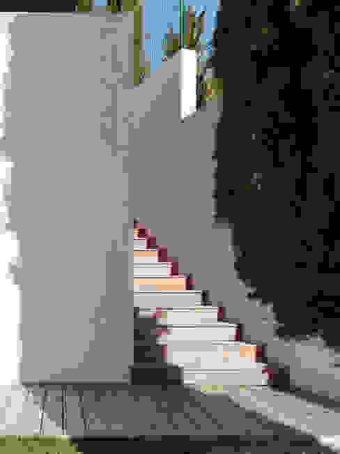 ESCALIER D'ACCÈS A LA MAISON Couloir, entrée, escaliers modernes par X-TREM CLEMENT BOIS ARCHITECTE Moderne
