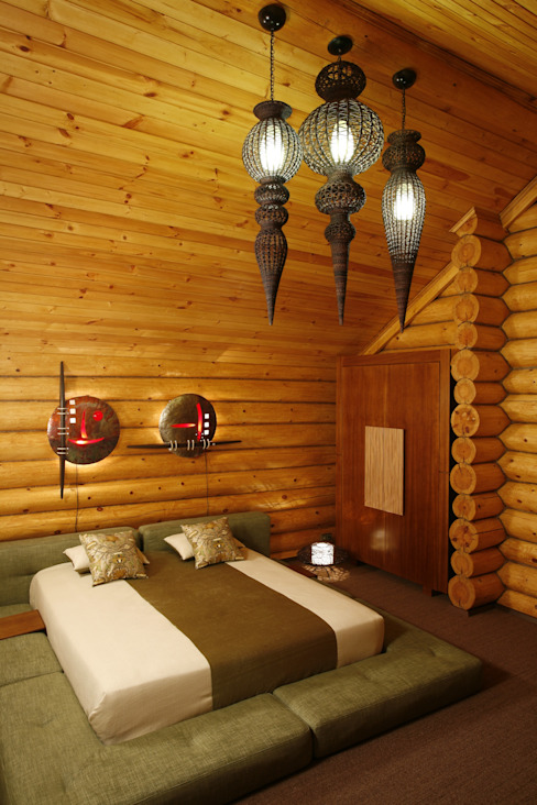 Rustic style bedroom by Amazing Studio Светланы Панариной Rustic