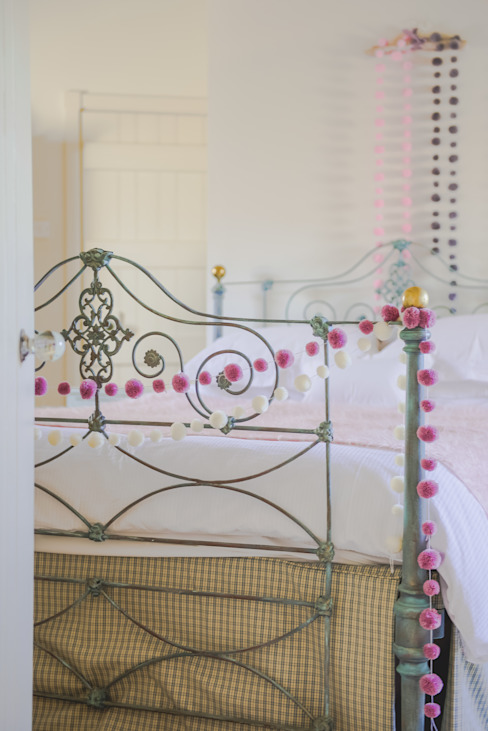 PomPom Garlands used in Girls new bedroom :  Bedroom by PomPom Galore