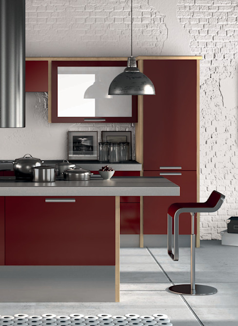 DM Design Burgundy Door Range DM Design Modern kitchen