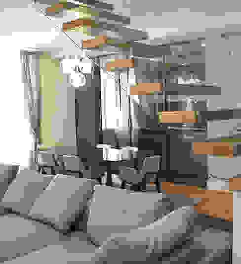 scala in cristallo Ingresso, Corridoio & Scale in stile moderno di Vetreria f.lli Paci Moderno