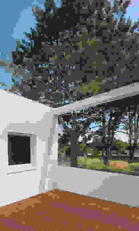 Maison autour d'un patio Maisons modernes par SARL Frédéric MAURET Moderne