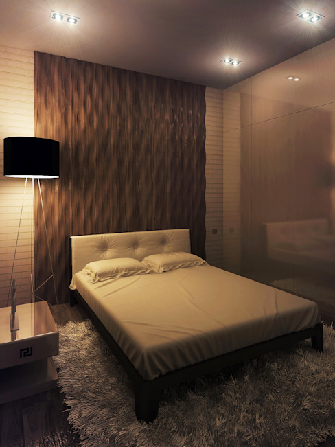 Дом Холостяка 2 Гостиная в стиле минимализм от Sboev3_Architect Минимализм