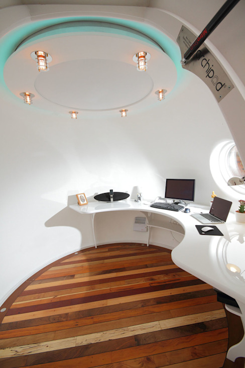 Archipod Demonstrator Pod Eclectic style study/office by Archipod Eclectic