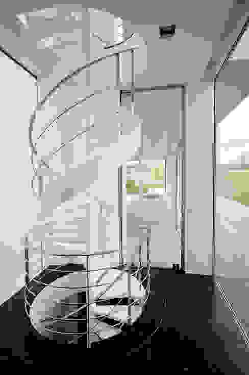 Le cube blanc Piscine minimaliste par Luc Spits Interiors Minimaliste