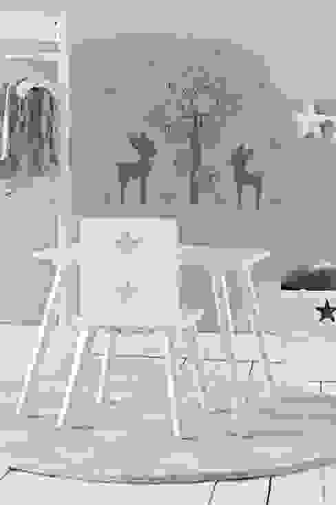 Szaro-różowy pokój dla dziewczynki w stylu skandynawskim Skandynawski pokój dziecięcy od Sklep Internetowy Kiddyfave.pl Skandynawski