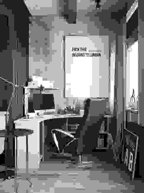 Industrialne domowe biuro i gabinet od Denis Krasikov Industrialny