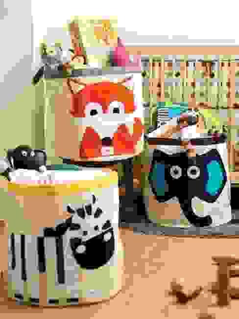 Kolorowe pojemniki na zabawki od 3 Sprouts od Sklep Internetowy Kiddyfave.pl Skandynawski