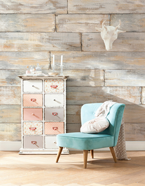 Shabby Chic Mural ref XXL4-014: rustic  by Paper Moon, Rustic