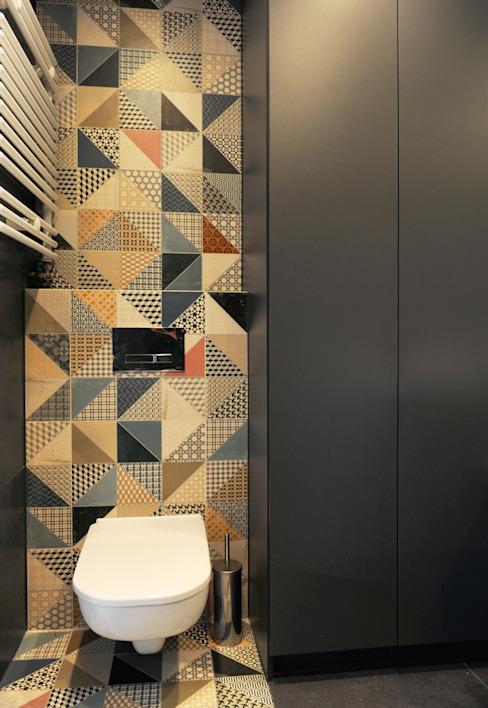 Mieszkanie Bażantowo Minimalistyczna łazienka od musk collective design Minimalistyczny