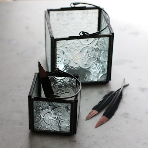 Two Recycled Glass Box Lanterns homify HouseholdAccessories & decoration