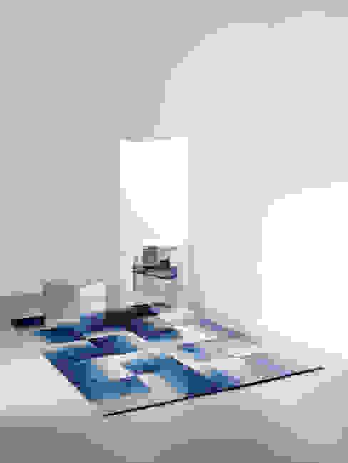 Deirdre Dyson SHADOWS hand knotted wool and silk rug Modern walls & floors by Deirdre Dyson Carpets Ltd Modern
