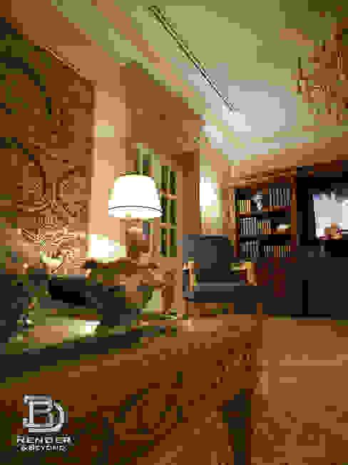 Living room Klassische Wohnzimmer von 3D Render&Beyond Klassisch