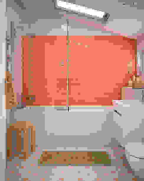 Matisse Cream / deco HARRIS Orange Baños de estilo moderno de homify Moderno