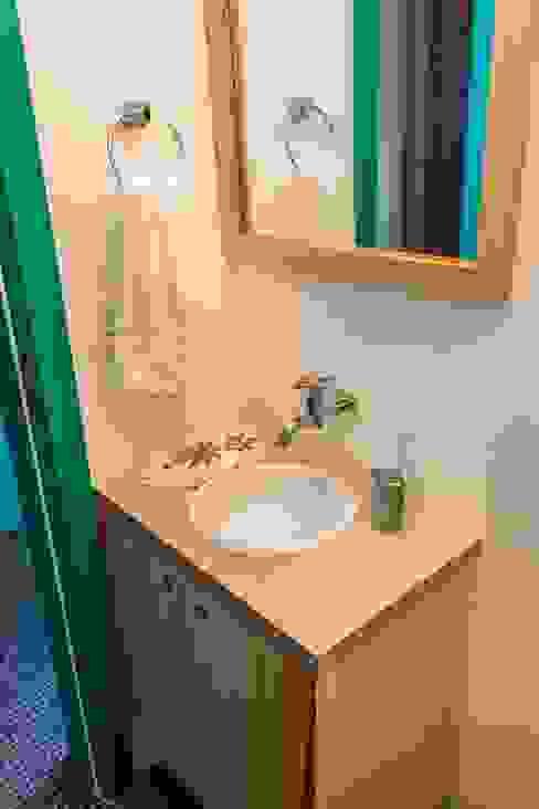 Banheiro - lavabo Banheiros rústicos por Ruta arquitetura e urbanismo Rústico