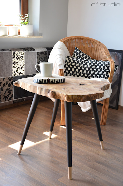 BIG STILL WOOD Coffee Table - Black D2 Studio Sala de estarBancadas e bandejas