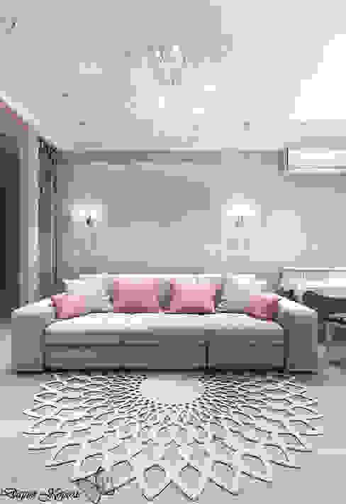 Перепланировка в 3х комнатной панельной чешке Your royal design Гостиные в эклектичном стиле