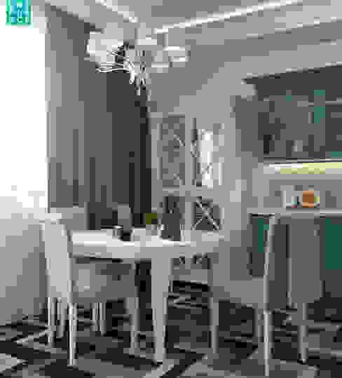 Однушка на 78 м. кв. Кухни в эклектичном стиле от OnePlace studio interior design Эклектичный