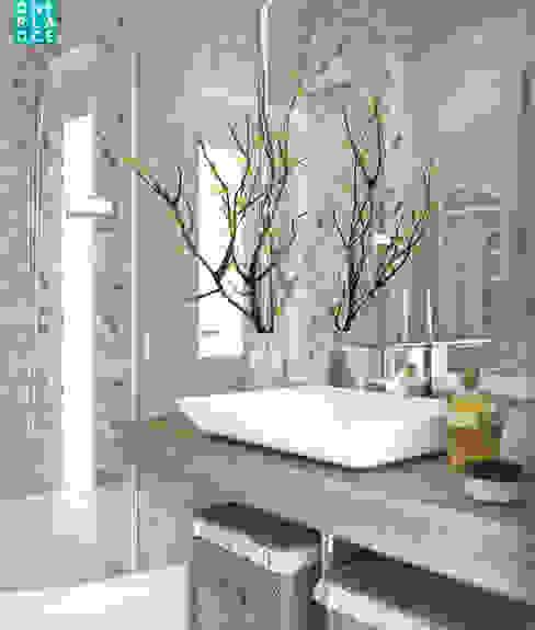 "3-к квартира ""Немецкая деревня"" Ванная комната в стиле минимализм от OnePlace studio interior design Минимализм"