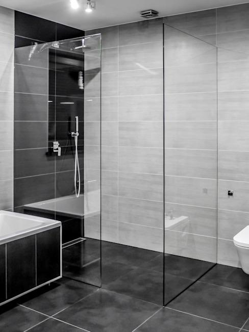 Baños modernos de Sałata-Pracownia Architektury Wnętrz Moderno