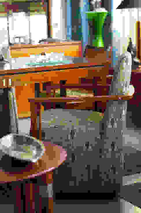 Gestoffeerde Art Deco eetkamerstoel van De blauwe Deel Webwinkels Eclectisch