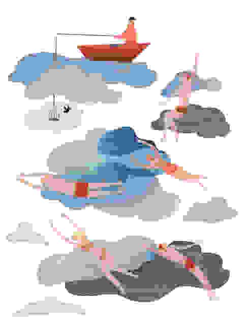 Raamillustratie 2: modern  door Agnes Loonstra - Nes is More, Modern