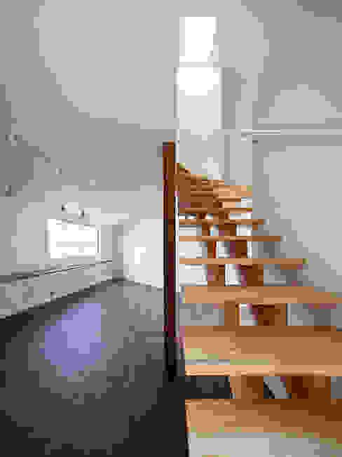 いれこ: +0 atelier | プラスゼロアトリエが手掛けた廊下 & 玄関です。,モダン