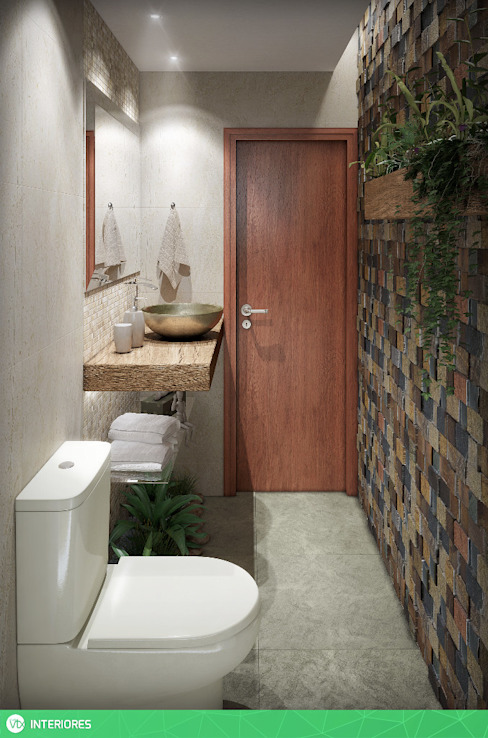 Tropical style bathroom by studio vtx Tropical
