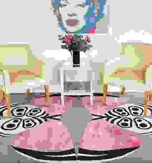 Deirdre Dyson PALOMA hand knotted wool and silk rug Modern living room by Deirdre Dyson Carpets Ltd Modern