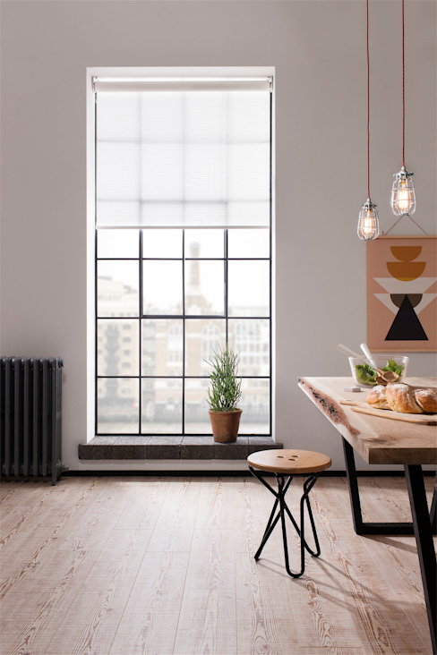 London Penthouse Apartment 인더스트리얼 다이닝 룸 by QMotion 인더스트리얼