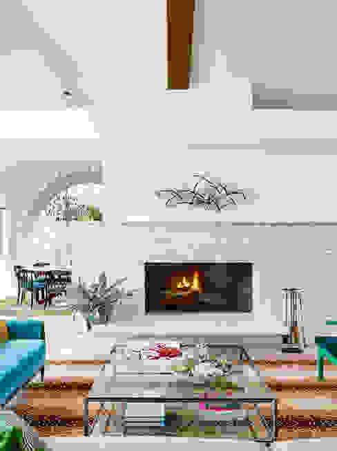 Maywood Residence Nowoczesny salon od Hugh Jefferson Randolph Architects Nowoczesny