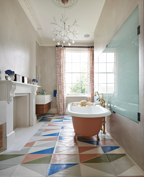 Drummond's Case Study: London Townhouse, Notting Hill Drummonds Bathrooms ห้องน้ำ