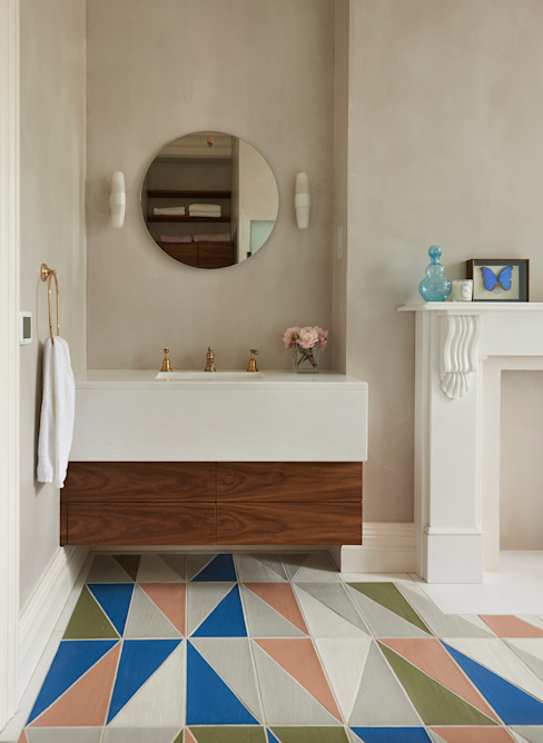 Drummond's Case Study: London Townhouse, Notting Hill Drummonds Bathrooms ห้องน้ำซิงก์