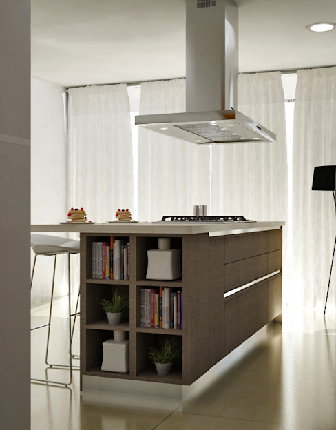 Cocinas Modernas Cocinas modernas de Citlali Villarreal Interiorismo & Diseño Moderno