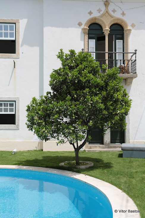 Villa Vasco da Gama | Guest House | Cascais: Jardins  por shfa,Clássico