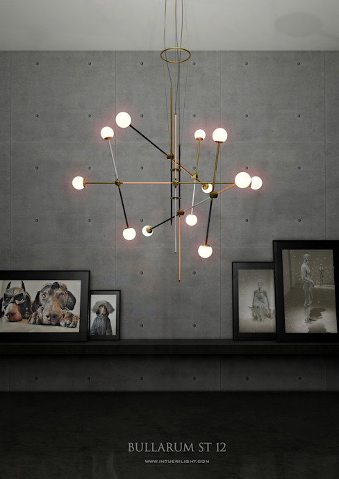 Chandelier ST-12 metal edition: modern  by Intuerilight, Modern