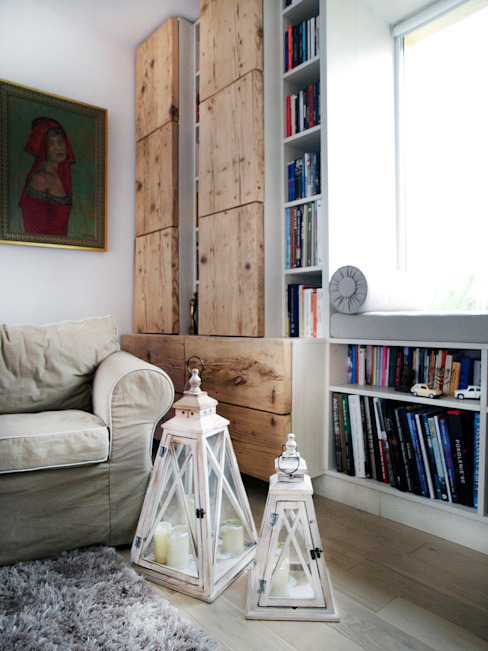 Rustic style living room by HUK atelier Rustic
