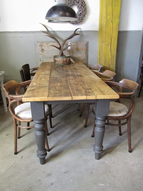 Rock eettafel, demontabel in Antraciet van Were Home Rustiek & Brocante