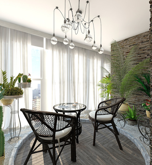 Eclectic style conservatory by Aledoconcept Eclectic