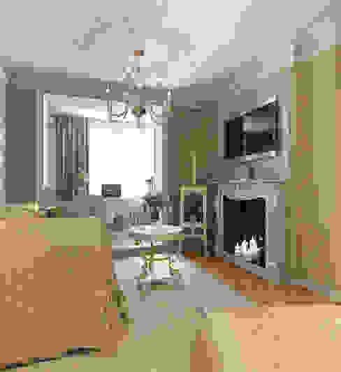 Гостиная, лоджия-кабинет, камин Гостиная в классическом стиле от Aledoconcept Классический