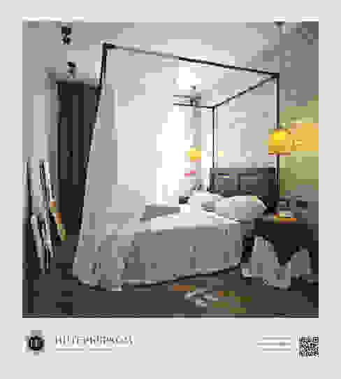 인더스트리얼 침실 by ИнтерьерКом / InteriorCom 인더스트리얼
