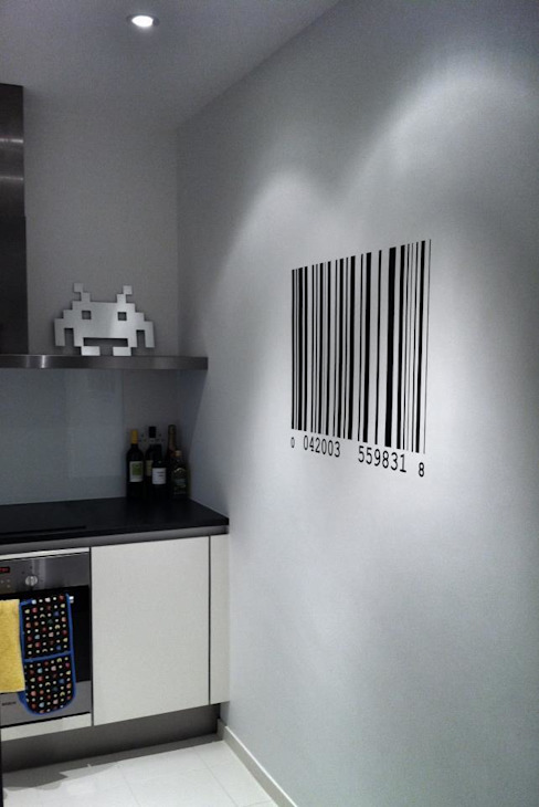 Barcode Wall Sticker Modern kitchen by homify Modern