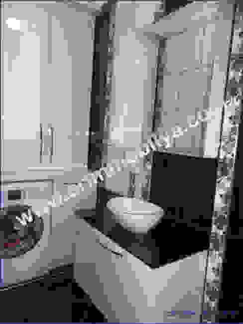 Banyo Dolabı Modern Banyo Erim Mobilya Modern İşlenmiş Ahşap Şeffaf
