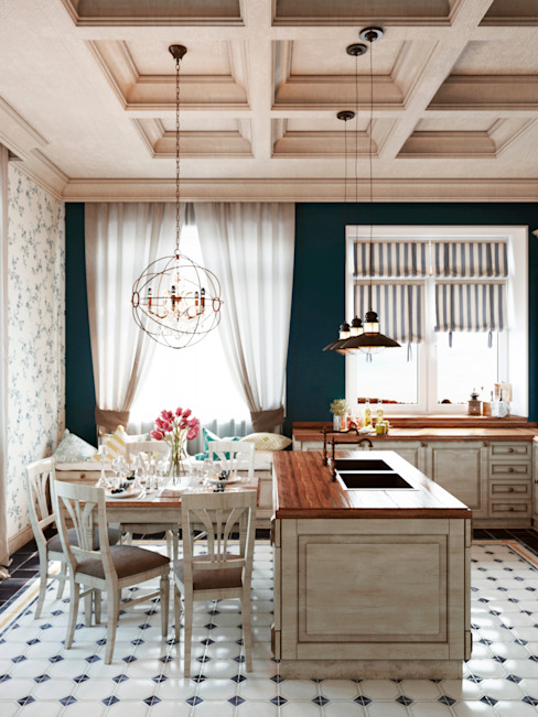 Интерьер/Волгоград/пос.Микоян/400м2 Кухня в классическом стиле от Дизайнстудия I M E N N O Классический