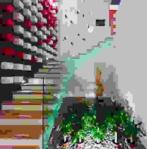 Pasillos y vestíbulos de estilo  por Excelencia en Diseño, Moderno