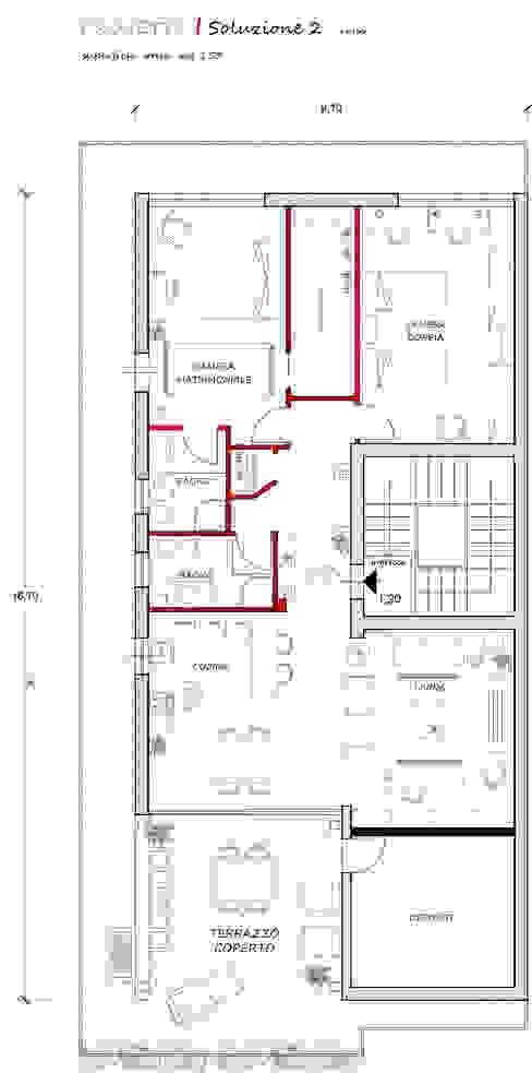 Salones de estilo ecléctico de francesca ravidà architetto | interior designer Ecléctico