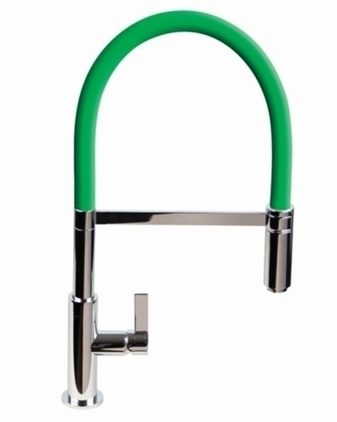 Luxury Spirali Designer Sink Mixer - Feature Green Hose: modern  by Lime Kitchen and Bathroom , Modern