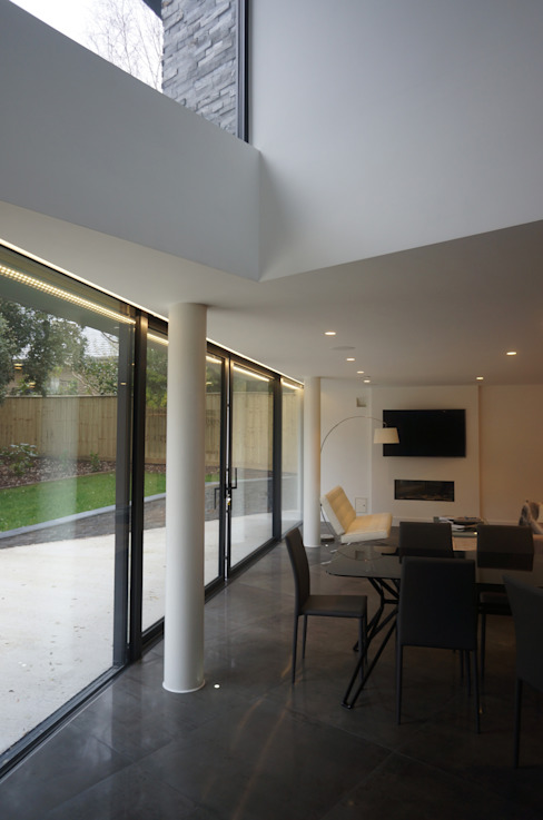 Nairn Road, Canford Cliffs Comedores modernos de David James Architects & Partners Ltd Moderno
